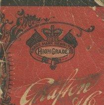 Image of AX2011.203.001 - Grafton & Co. clothing manufacturers memorandum booklet
