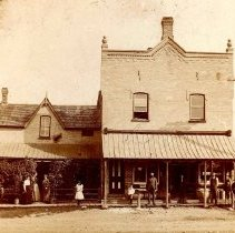 Image of Original general store and residence of Mr. & Mrs. James Douglas located on