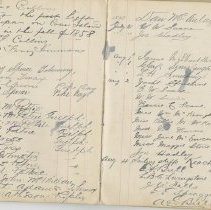 Image of A961.003.016 Page 108 And 109 - Cove Island Lighthouse Visitors' Book