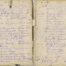 Image of A961.003.016 Page 44 And 45 - Cove Island Lighthouse Visitors' Book