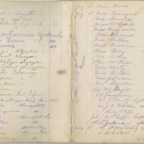Image of A961.003.016 Page 48 And 49 - Cove Island Lighthouse Visitors' Book