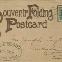 Image of Souvenir Folding Postcard , front