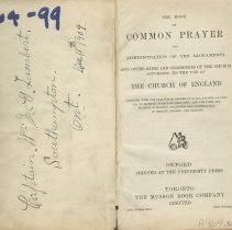 Image of Common Prayer, The Hymn Book,, title page