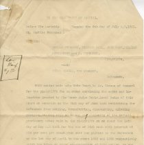 Image of A2012.010.004 - Ferguson v. Arkell notice of motion