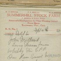 Image of A2012.010.008 - Summerhill Stock Farm [sales records]