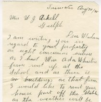Image of A2012.010.012a-b - Correspondence from Peter Valad to Mrs. W.J. Arkell