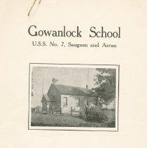 Image of A2012.033.011 - Gowanlock School, U.S.S. No. 7, Saugeen and Arran : reunion August 4th, 1963
