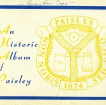Image of AX2004.0052 - An historic album of Paisley
