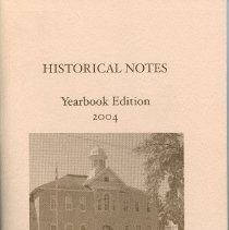 Image of AX2008.001.038 - Historical notes - yearbook edition 2004 - Bruce County Historical Society