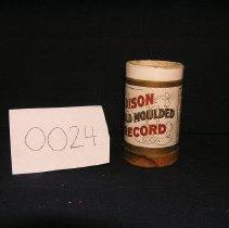 Image of 1966-043-0024 - Cylinder, Audio