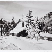 Image of Hunter, George - Last of the telegraph cabins along the CPR rail line, near Banff, 1955 GH No. CAL-300-W