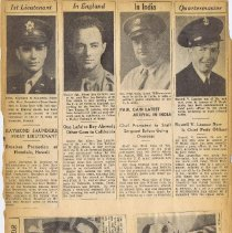 Image of WWII Scrapbook: Page 1