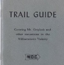 Image of Trail Guide, covering Mt. Greylock and other mountains in the Williamstown