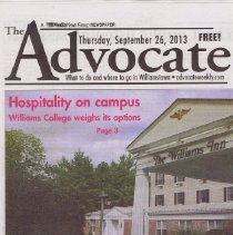 Image of Three newspapers about the Williams Inn
