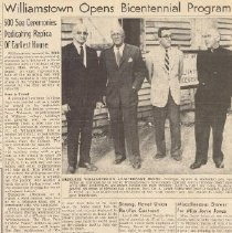 Image of Williamstown Opens Bicentennial Program