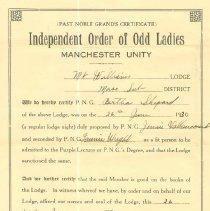 Image of Odd Ladies Certificate