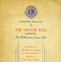 Image of Lions Club Honor Roll