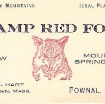 Image of Camp Red Fox Business Card