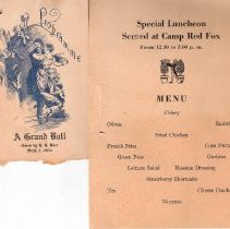 Image of Menu and Programe from Camp Re