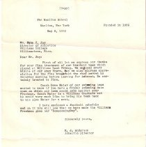 Image of Letter to John C Jay from Manl