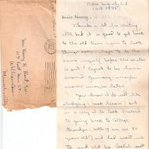 Image of Letter from N. McWilliams to H