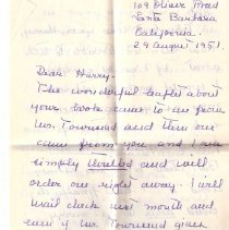 Image of Letter from S Swift to HHHart