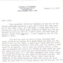 Image of Letter from I Townsend to HHH