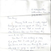 Image of Letter to HHH Sr. from Charlie