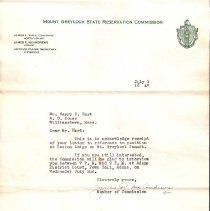Image of Letter to HHHart Sr. from Mt.