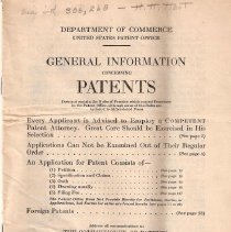 Image of Patent Pamphlet
