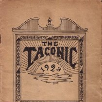 """Image of Collection of """"The Taconic"""" publications from Williamstown High School.  Editions included:  April, 1923; April, 1926; June, 1926; April, 1928; April, 1930; November, 1930; November, 1931; April, 1932"""