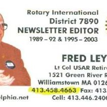 Image of Business Card of Fred Ley