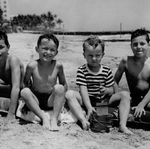 Image of Adolph's grandsons at beach