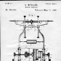 Image of Drawing Mueller Motor Vehicle Patent  No. 582,539