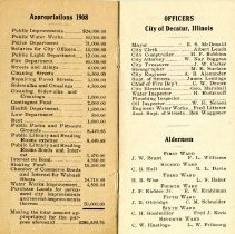 Image of Pamphlet officers city of Decatur  Pages 1 & 2
