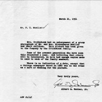 Image of Letter from A.G. Webber Jr. to F.H. Mueller  re:  Family portrait  1951