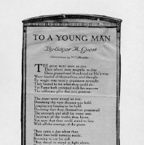 "Image of Poem "" To A Young Man ""  by Edgar A. Guest"