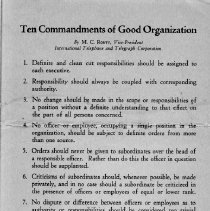 Image of Ten Commandments of Good Organization