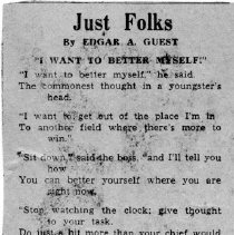 "Image of Poem "" Just Folks ""  by Edgar A. Guest"