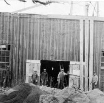 Image of Construction of Mueller Co. garage  circa 1920s-30s