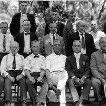 Image of Mueller brothers and employees  circa 1924
