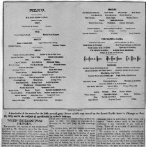 Image of Menu for Chicago Banquet