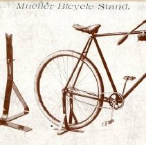 Image of Postcard  Mueller Co. bicycle stand