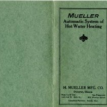 Image of Pamphlet Mueller automatic system of hot water heating