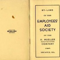 "Image of Pamphlet / Handbook  "" Employees Aid Society """