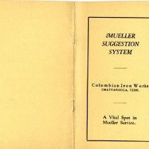 Image of Mueller Suggestion system pamphlet--Chatanooga TN