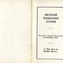 Image of Mueller Suggestion System Pamphlet --Los Angeles CA.