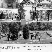 Image of Mueller Heights folded postcard  side 1