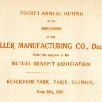Image of Program--Mueller Co. Employee Picnic 8 June,1901
