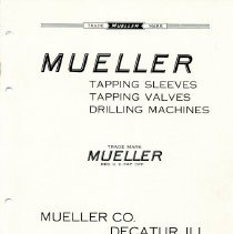 Image of Catalogue--Mueller tapping sleeves, tapping valves and drilling Machine